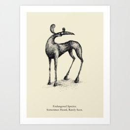 Endangered Species Art Print