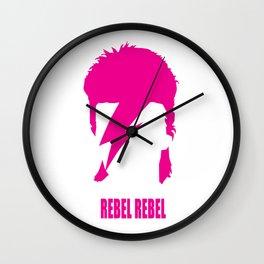 Rebel Rebel #pink Wall Clock