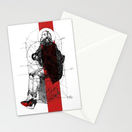 Red Lines. T. Golden Ratio. Baphomet. Yury Fadeev Stationery Cards
