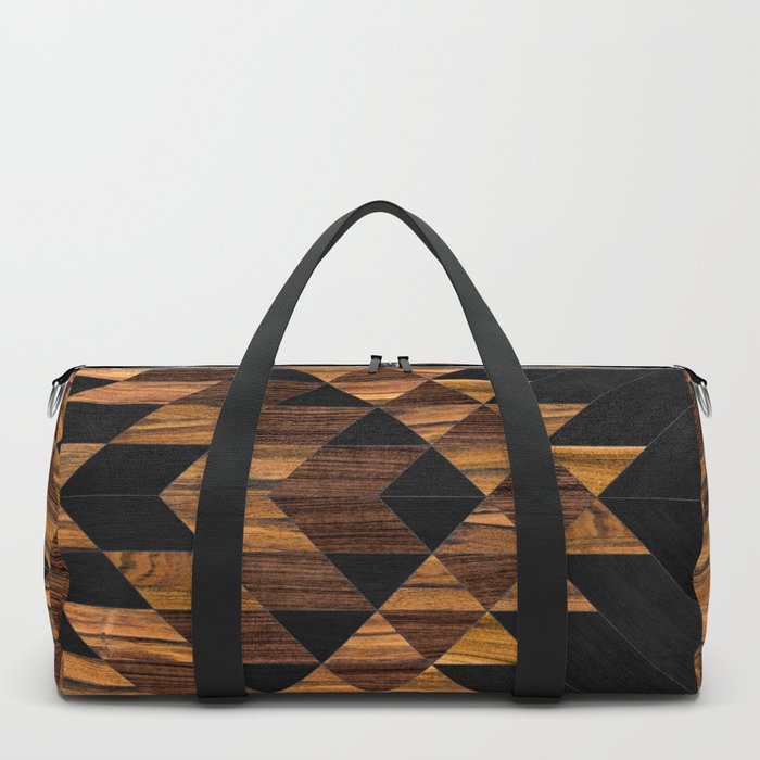 Urban Tribal Pattern 11 - Aztec - Wood Duffle Bag