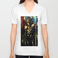loki V-neck T-shirts featuring Loki by Vincent Vernacatola