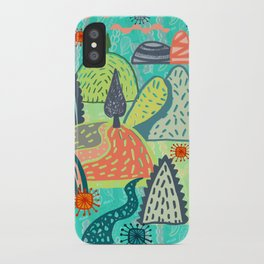Happy Hills. iPhone Case