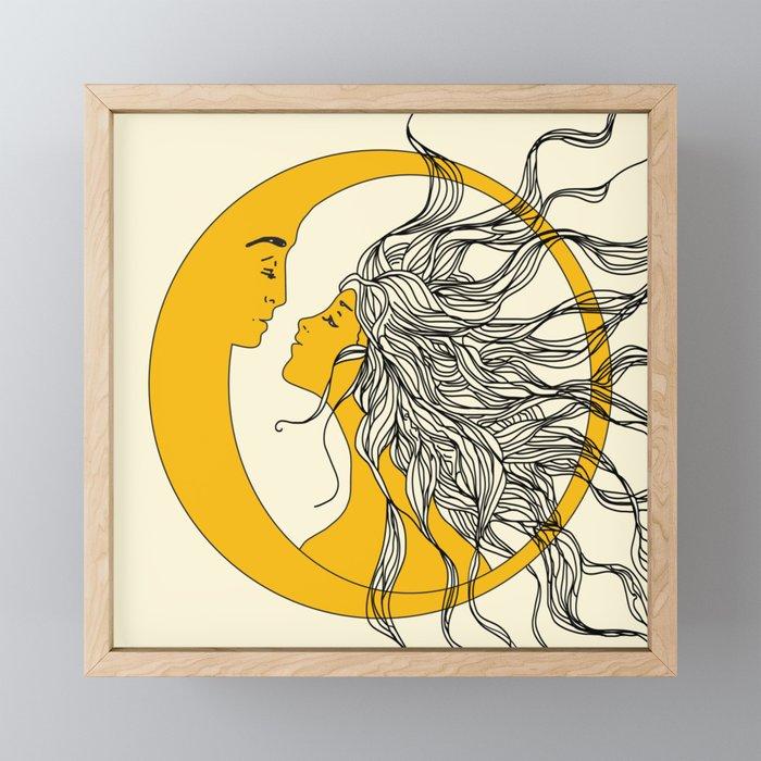 Sun and Moon Framed Mini Art Print