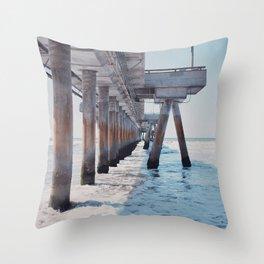 Under the pier Throw Pillow