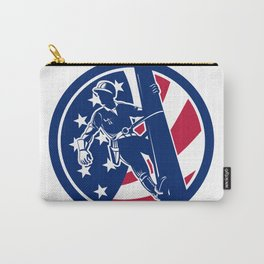 American Lineworker USA Flag Icon Carry-All Pouch