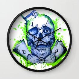 Gamble Skull Wall Clock