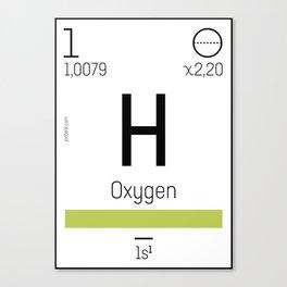 Oxygen - chemical element Canvas Print
