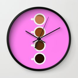 Shades of Happiness Wall Clock