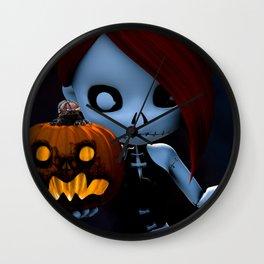 Rag Doll Halloween Wall Clock