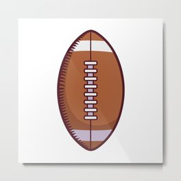 Football With White Laces Metal Print