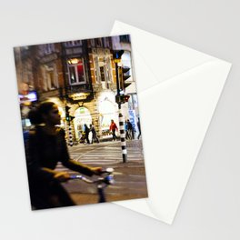 Night ride in Amsterdam Stationery Cards