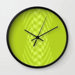 Green Intertwine Wall Clock