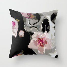 """""""Spring"""" Skull and flowers Throw Pillow"""