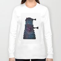 dalek Long Sleeve T-shirts featuring Dalek  by Edna Andrade
