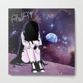 Gone away girl Metal Print