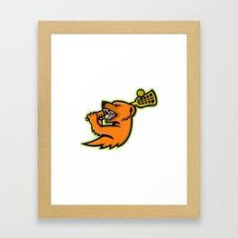 Mongoose Lacrosse Mascot Framed Art Print