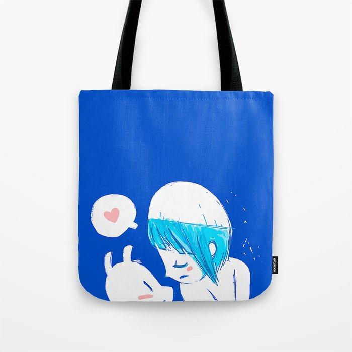Blue lovers Tote Bag