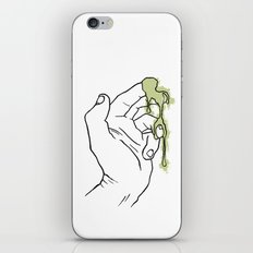 A Hand with Snot iPhone & iPod Skin