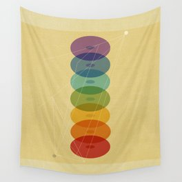 Seven Colours of Chakra Wall Tapestry