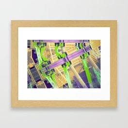 Caution: Raised Bridge Framed Art Print