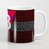 denmark Mugs featuring bitcoin denmark by seb mcnulty