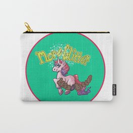 More Glitter Less Bitter Carry-All Pouch
