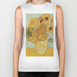 STILL LIFE: VASE WITH TWELVE SUNFLOWERS - VAN GOGH Biker Tank