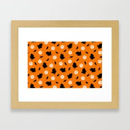 Volley Crows! Framed Art Print