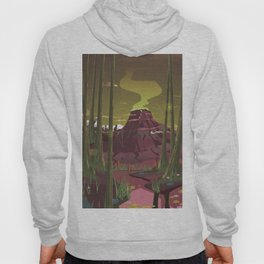 Erupting Volcano in the Swamp Cartoon Hoody