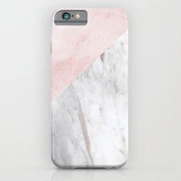 Marchionne Bianco & Silvec Rosa marble soft pink iPhone Case
