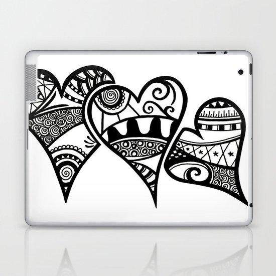 Three Hearts Laptop & iPad Skin