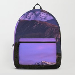 Mulhacen and Alcazaba mountain. Sierra Nevada at sunset. Winter time Backpack