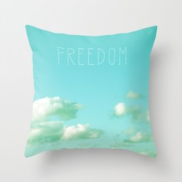Freedom over Clouds Throw Pillow