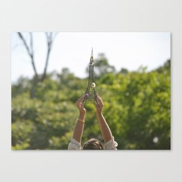 The World On My Shoulders Canvas Print