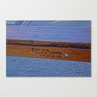 humor Canvas Prints featuring Street Humor by Q'ba