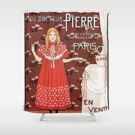 Dentifrice French belle epoque toothpaste ad Shower Curtain