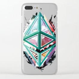 Ethereum Logo Abstract 01 Clear iPhone Case