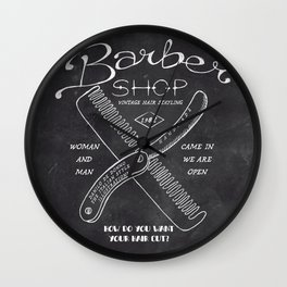 Barber Shop Wall Clock