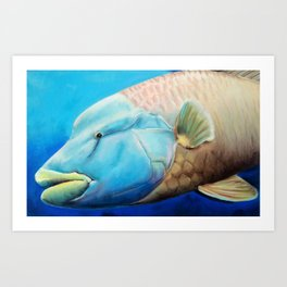 Fish with Big Green Lips Art Print