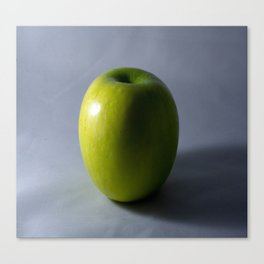 Green Apple in Shadow Canvas Print