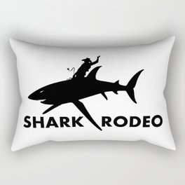 Shark Rodeo silhouette - Pop Culture Rectangular Pillow