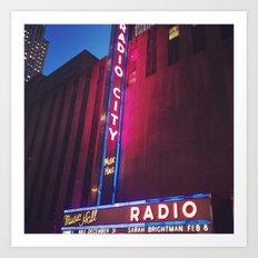 Radio City, New York Art Print