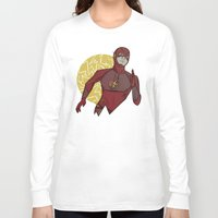 the flash Long Sleeve T-shirts featuring Flash by Charleighkat