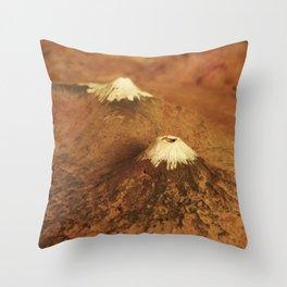 Volcanes Throw Pillow
