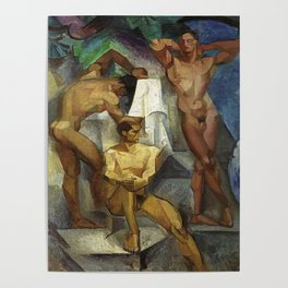 Young Bathers by George Pauli Nude Male Art Poster