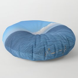 The Edge of the Earth Floor Pillow