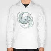 pisces Hoodies featuring Pisces by Vibeke Koehler