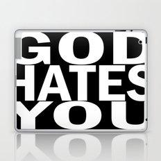 god hates you (white font) Laptop & iPad Skin