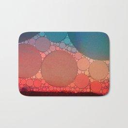 Red Modern Minimal Abstract Bath Mat