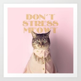 Don't Stress Meowt Art Print